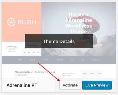 Adrenaline WordPress Theme Documentation Online Documentation