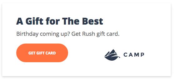 Gift card widget code