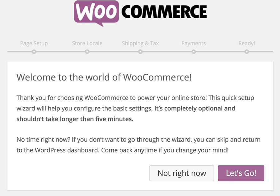 WooCommerce Setup Wizard