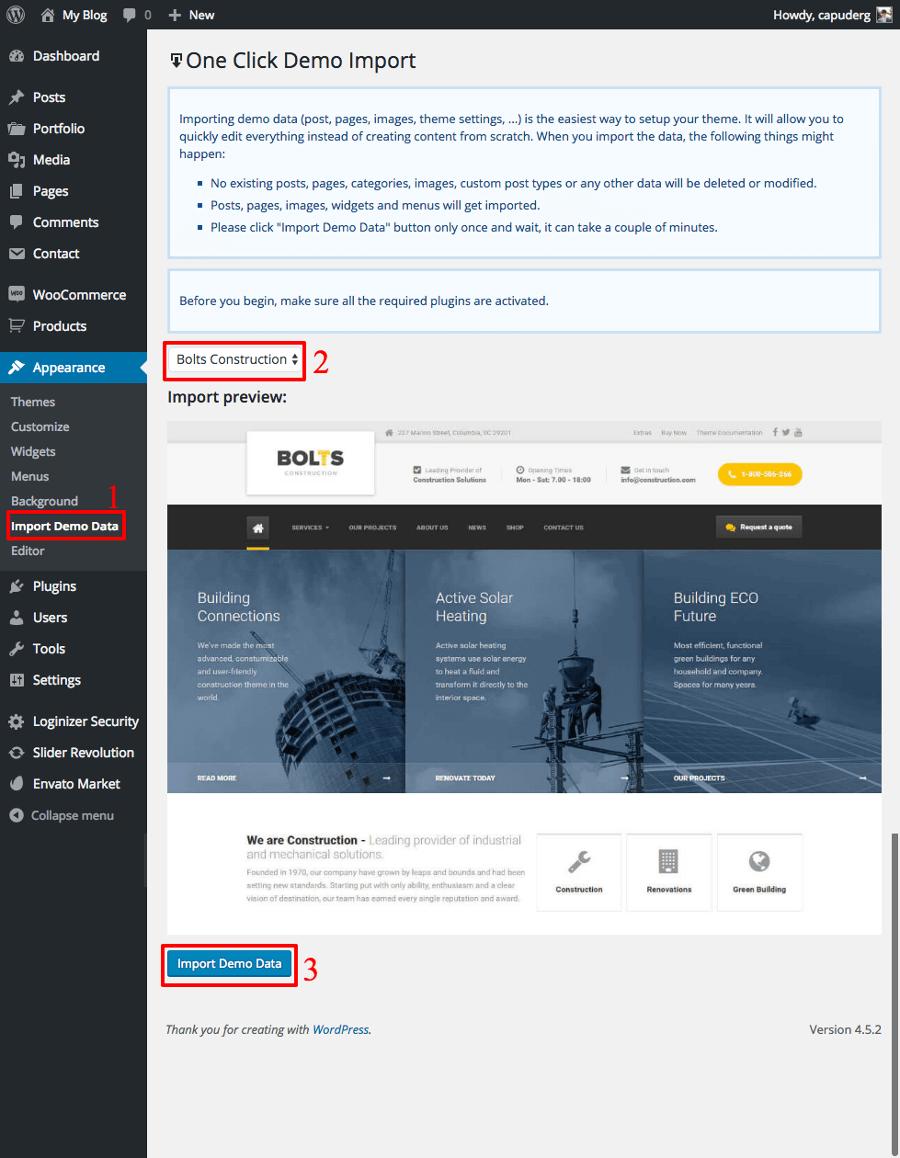 Bolts WordPress Theme Documentation Online Documentation