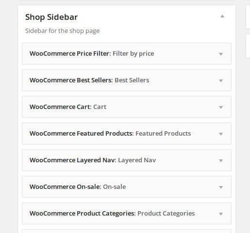 WooCommercer Shop Sidebar