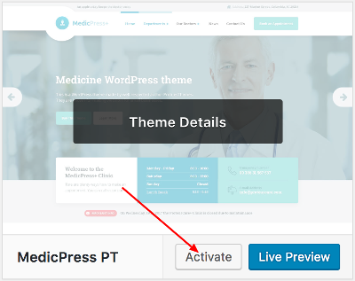 MedicPress WordPress Theme Documentation Online Documentation
