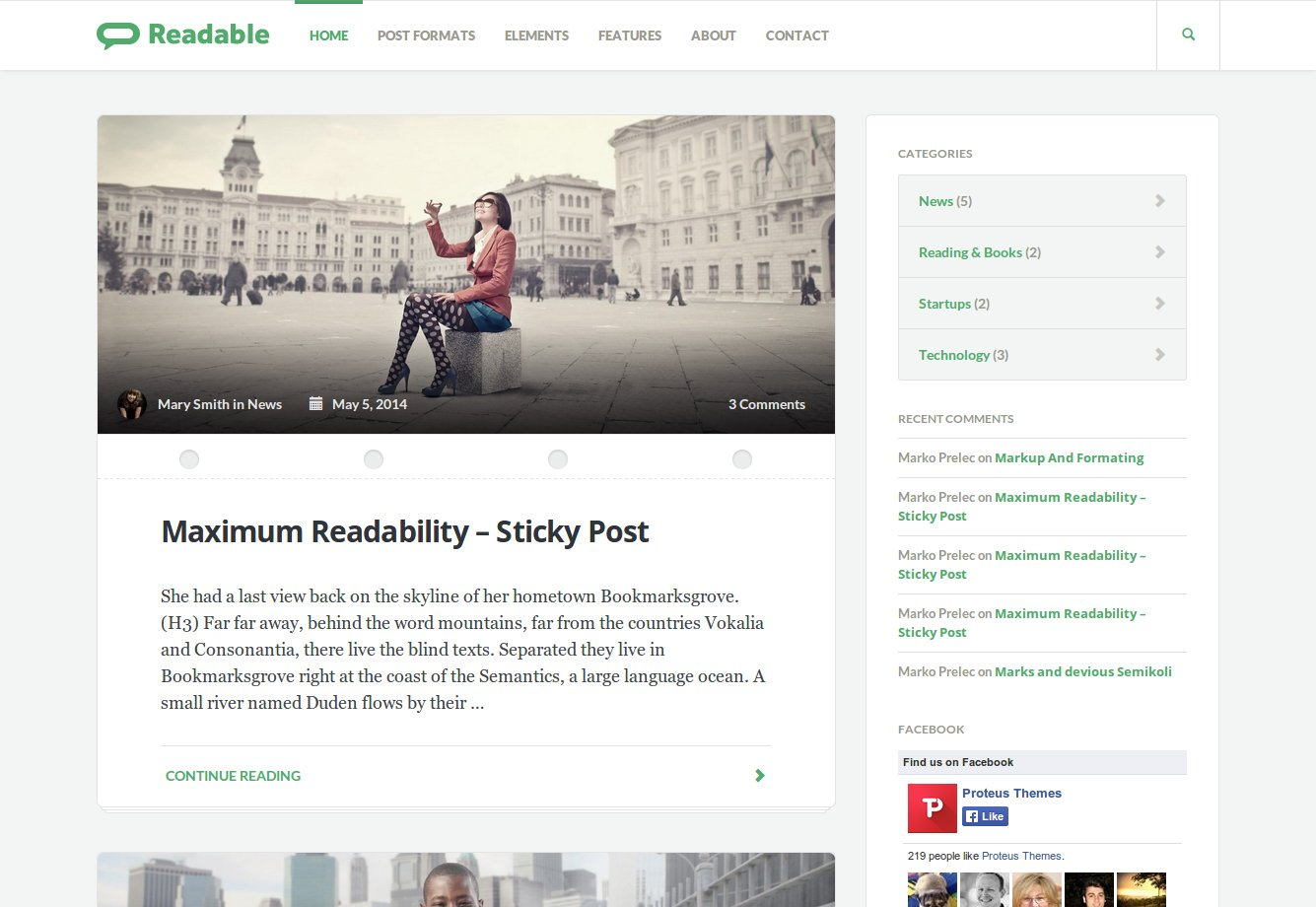 Readable WordPress Theme Documentation
