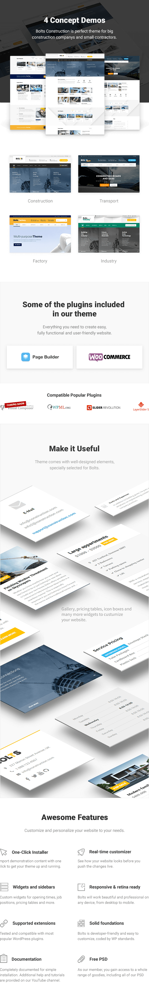 Bolts - Construction Theme For Medium to Large Business