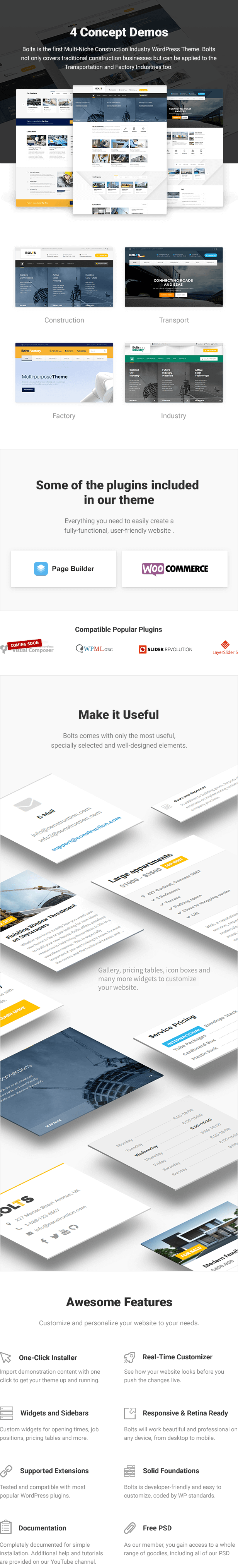 Bolts - Multi-niche WordPress theme for Construction, Transport, Industry and Factory Business