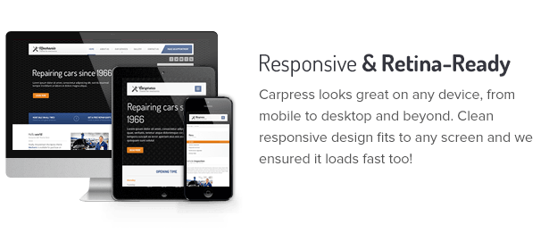 WordPress theme Carpress - WordPress Theme For Mechanic Workshops (Retail)