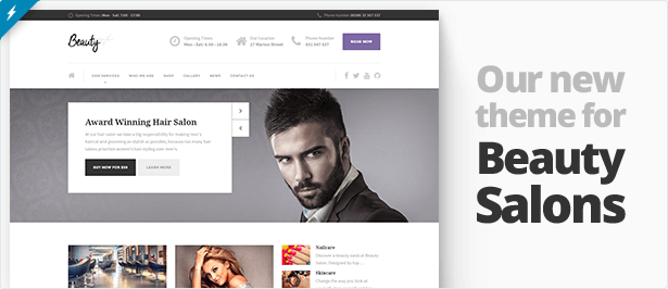 Hairpress Html Template For Hair Salons By Proteusthemes Themeforest