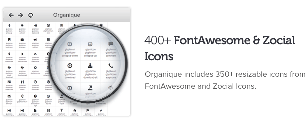 FontAwesome and Zocial icons