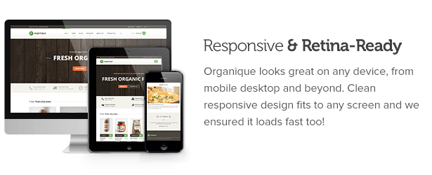 WordPress theme Organique - WordPress Theme For Healthy Food Shop (Food)