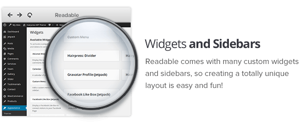 Widget and sidebars