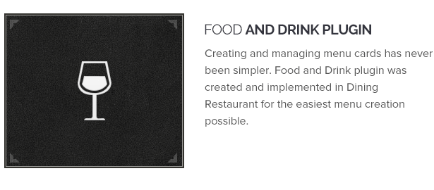 Food And Drink Plugin