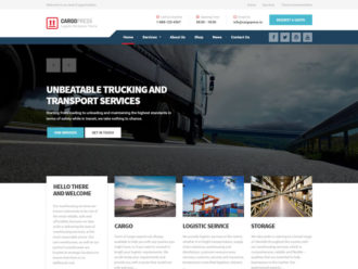 Bolts - Transportation, Logistic and Cargo WordPress Theme