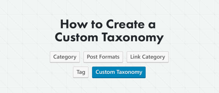 How to create custom taxonomy
