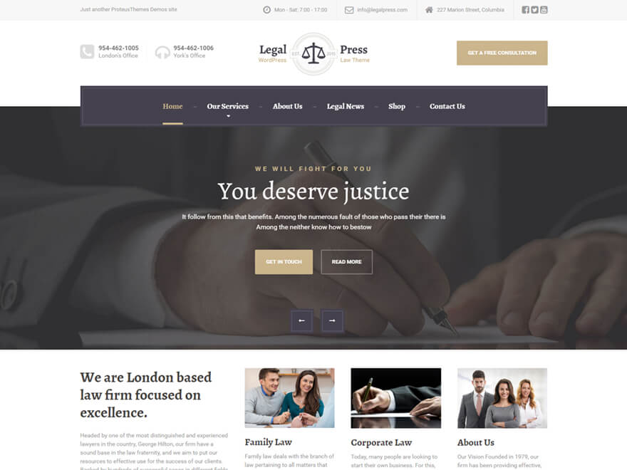 LegalPress - WordPress Theme for Lawyers, Law Firms and Attorneys