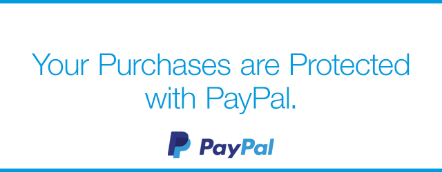 Your Purchases are Protected with PayPal.
