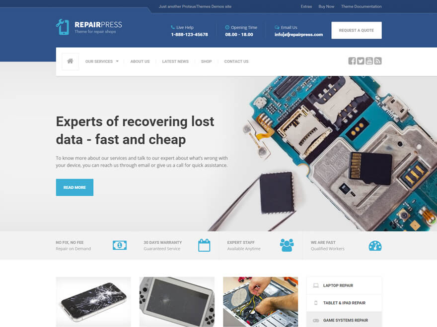 f39e00b3a RepairPress - Phone Repair WordPress Theme