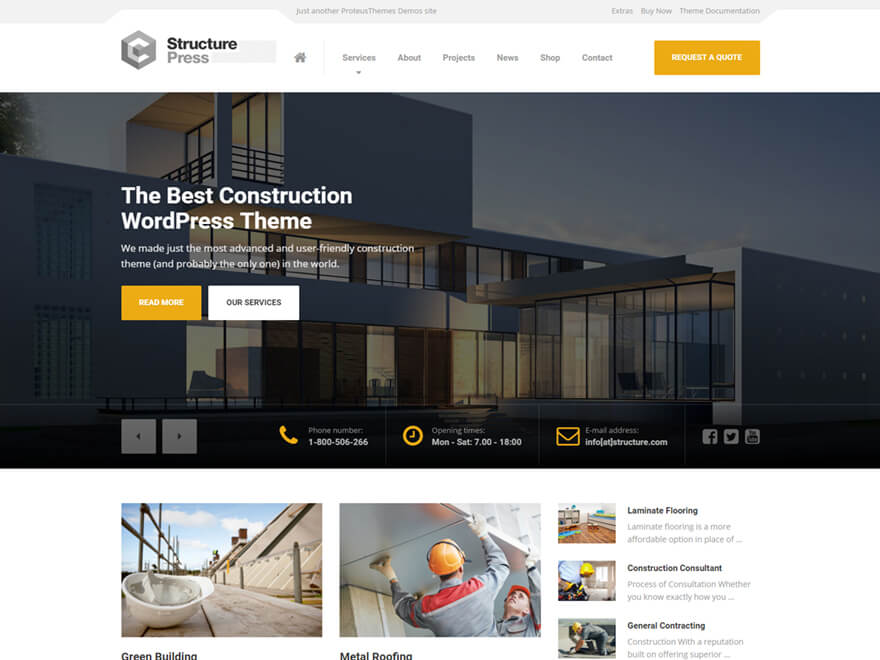 StructurePress WordPress Theme