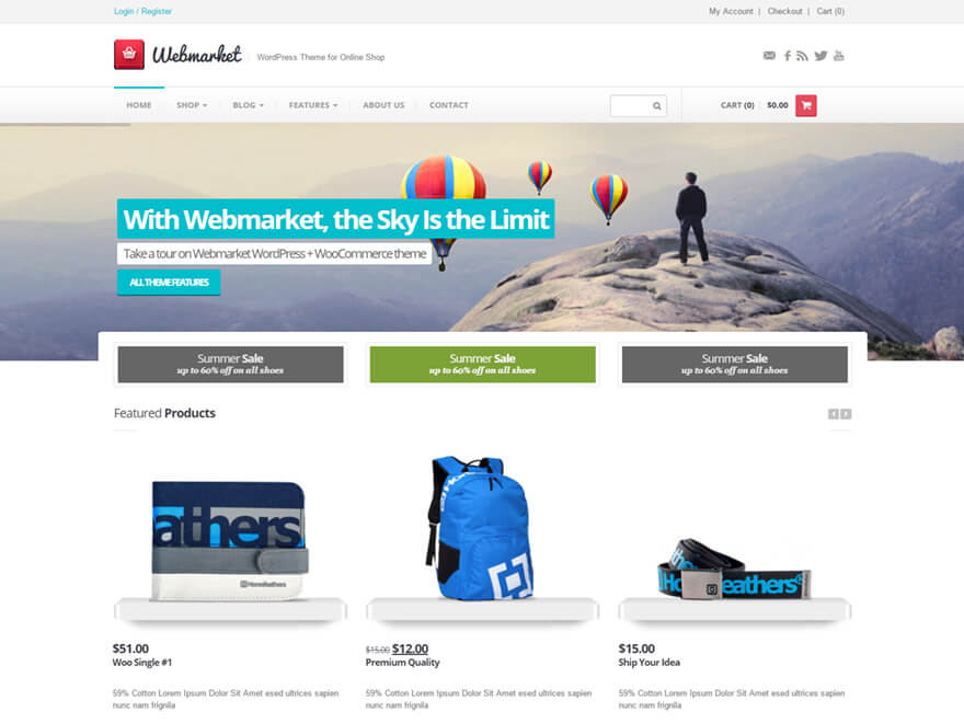 Webmarket WordPress Theme