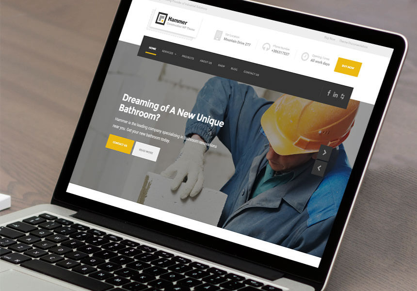 Hammer - WordPress Theme for Construction and Building Business