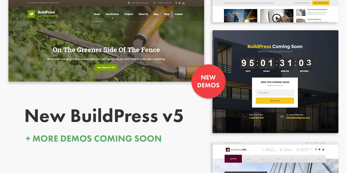 Best Construction Theme - BuildPress Update v5