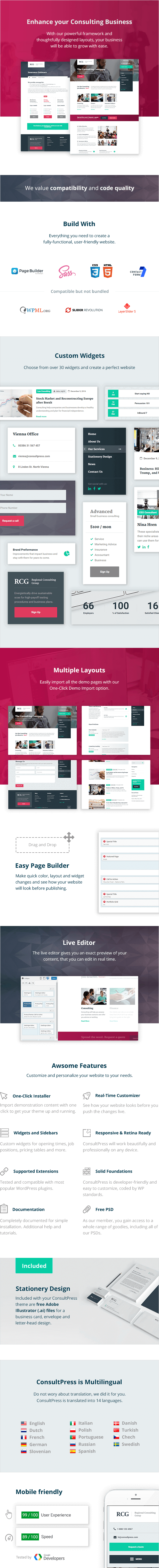 ConsultPress - WordPress Theme for Consulting and Financial Businesses - 1