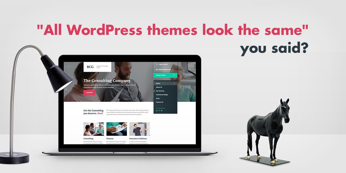 All premium WordPress themes look the same - ProteusThemes
