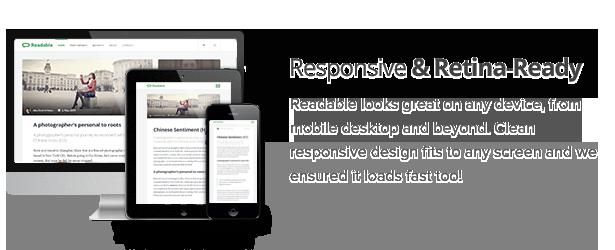 Readable - Blogging WordPress Theme Focused on Readability - 1