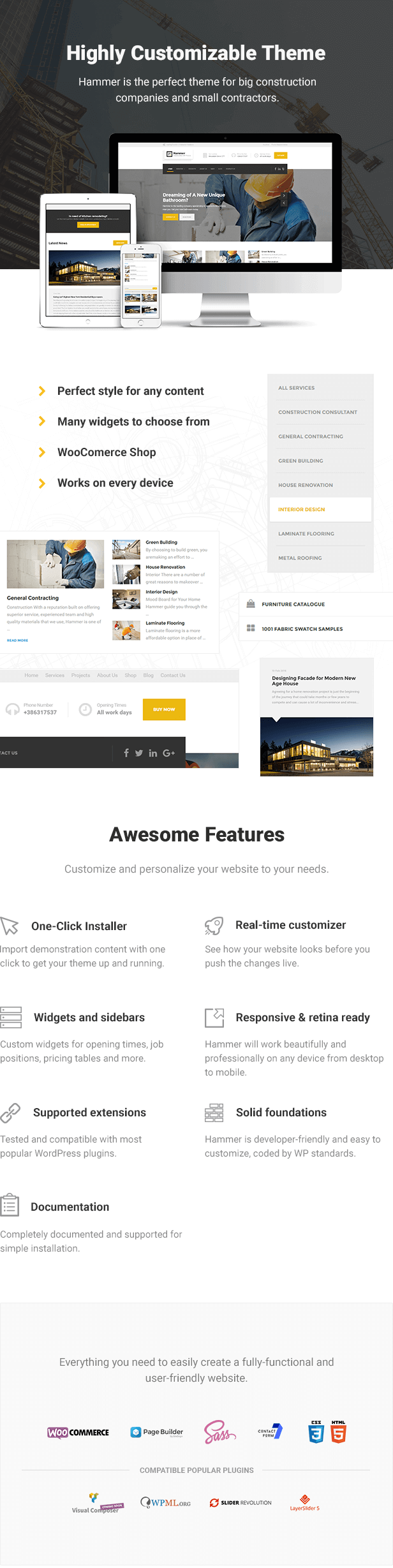 Hammer - Construction WordPress Theme - 1