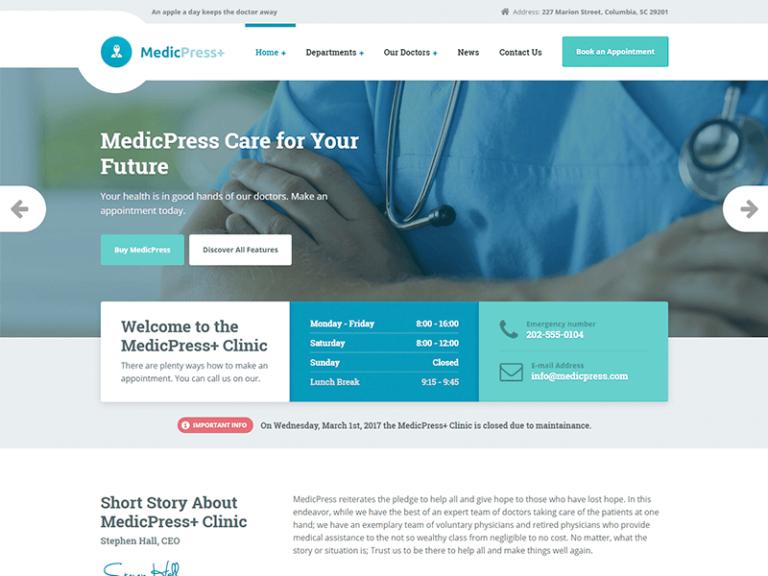 MedicPress Theme