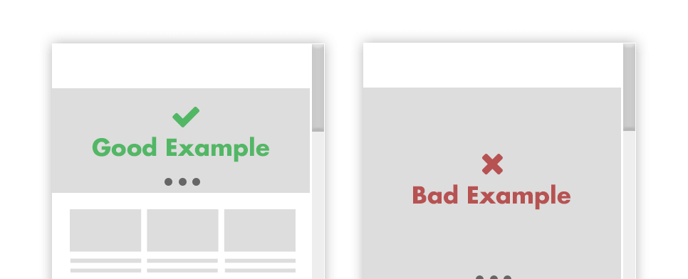 good and bad slider example