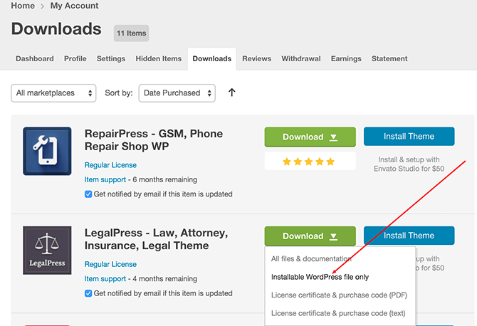 LegalPress ThemeForest Download