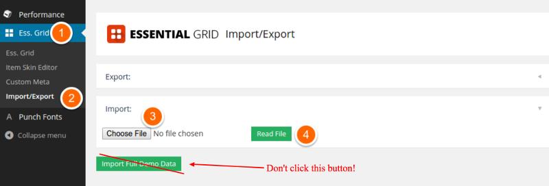 Essential Grid Import