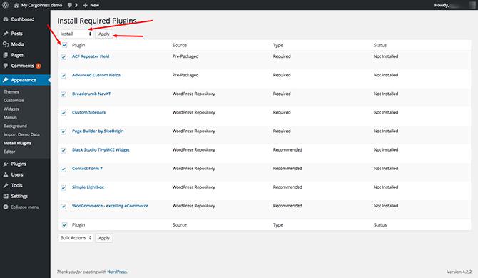 LegalPress Install Plugins