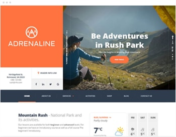 adrenaline wordpress theme