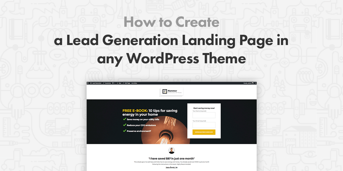 How to Create a Lead Generation Landing Page in Any WordPress ...