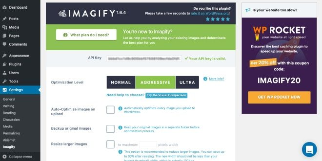 Imagify - image compression WordPress plugin