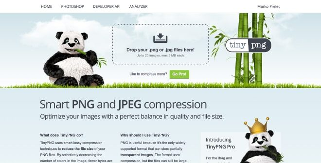 TinyPNG - online image compression tool