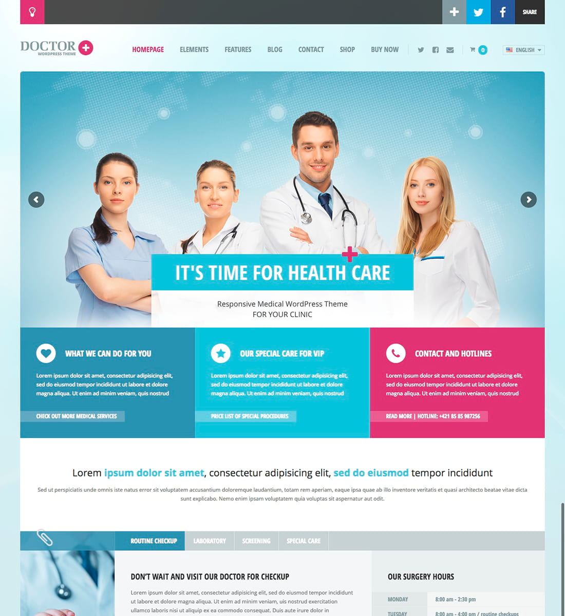 Doctor+ WordPress Theme
