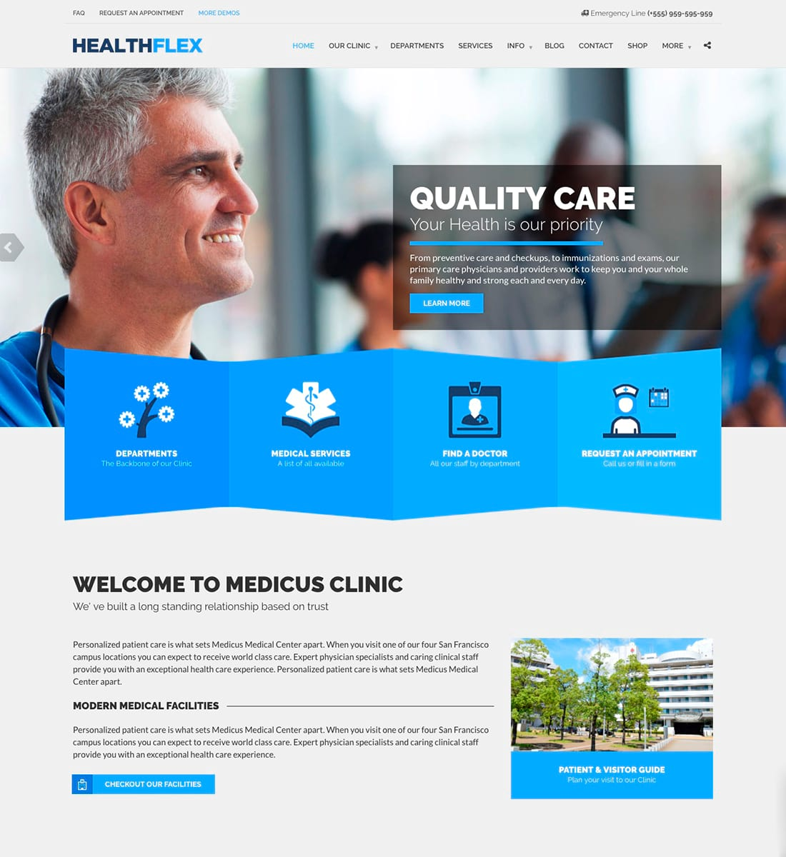 Healtflex - Medical Health WordPress Theme