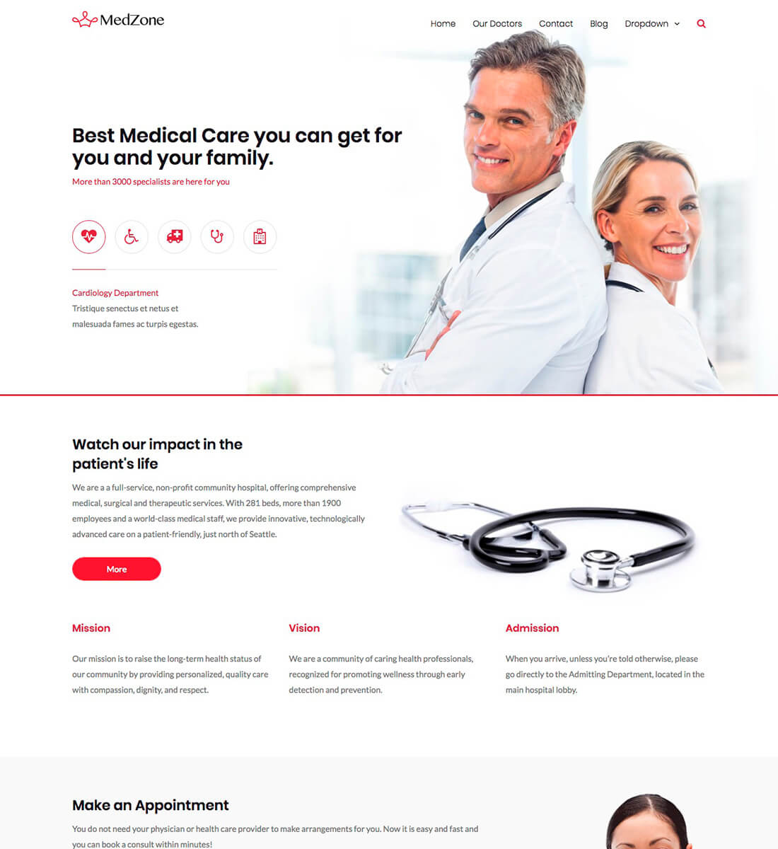 MedZonePro Medical WordPress Theme