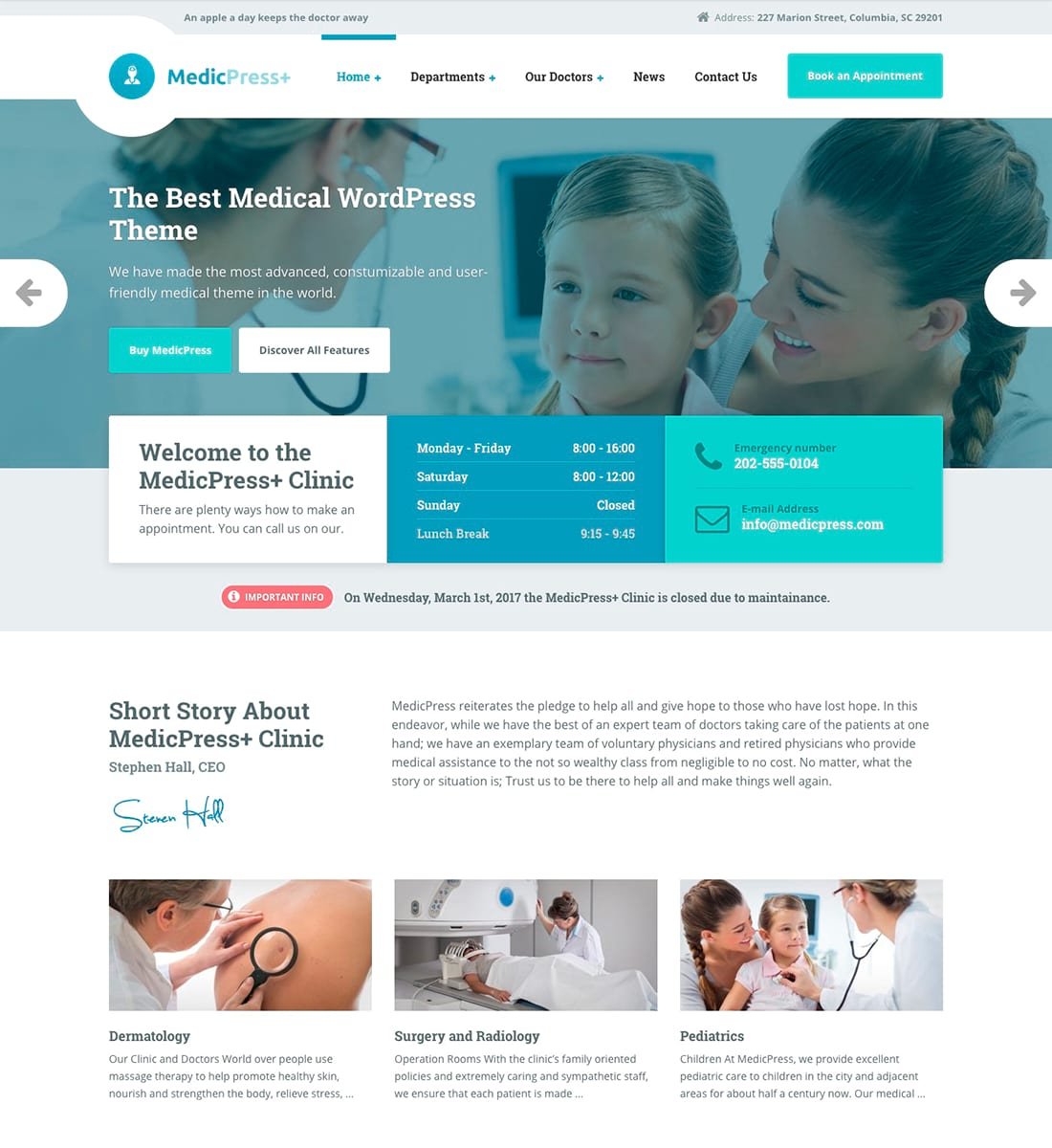 MedicPress - Medical WordPress Theme for Clinics and Private Doctors is one of the best medical WordPress themes