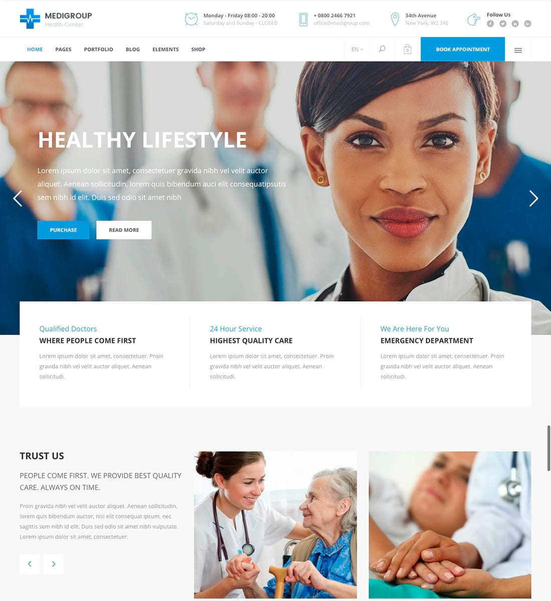Medigroup – A Modern Multidisciplinary Medical and Health Theme
