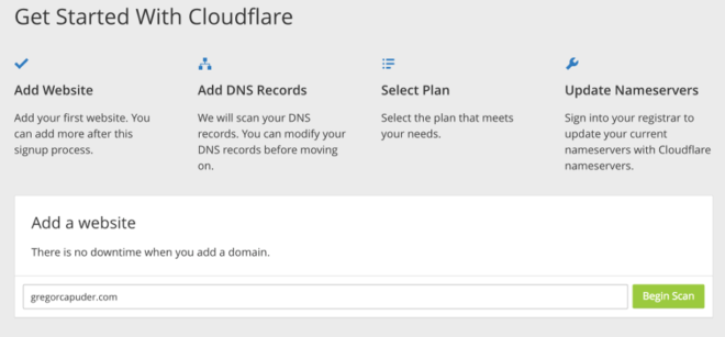 Cloudflare - Step 1