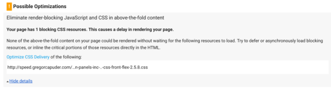 PageSpeed - Eliminate Render Blocking Scripts