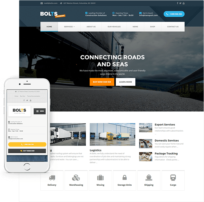 Responsive Construction WordPress Theme