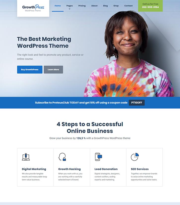 Marketing and SEO WordPress Theme