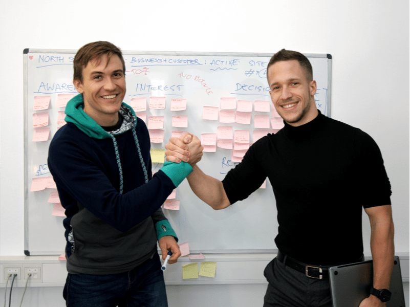 Founders of ProteusThemes Primož and Jaka