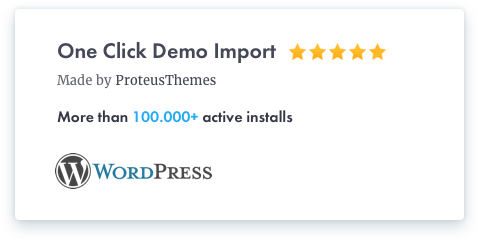 One Click Demo Import Plugin for WordPress