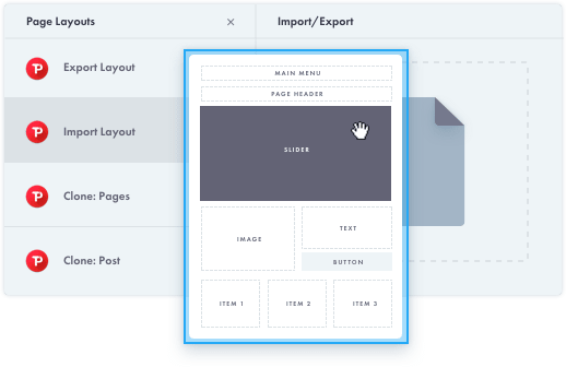 Importing and Exporting Page Layouts