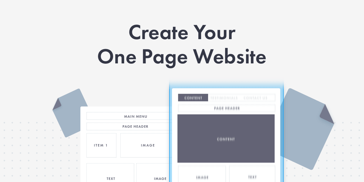 How to create one page website with any WordPress theme